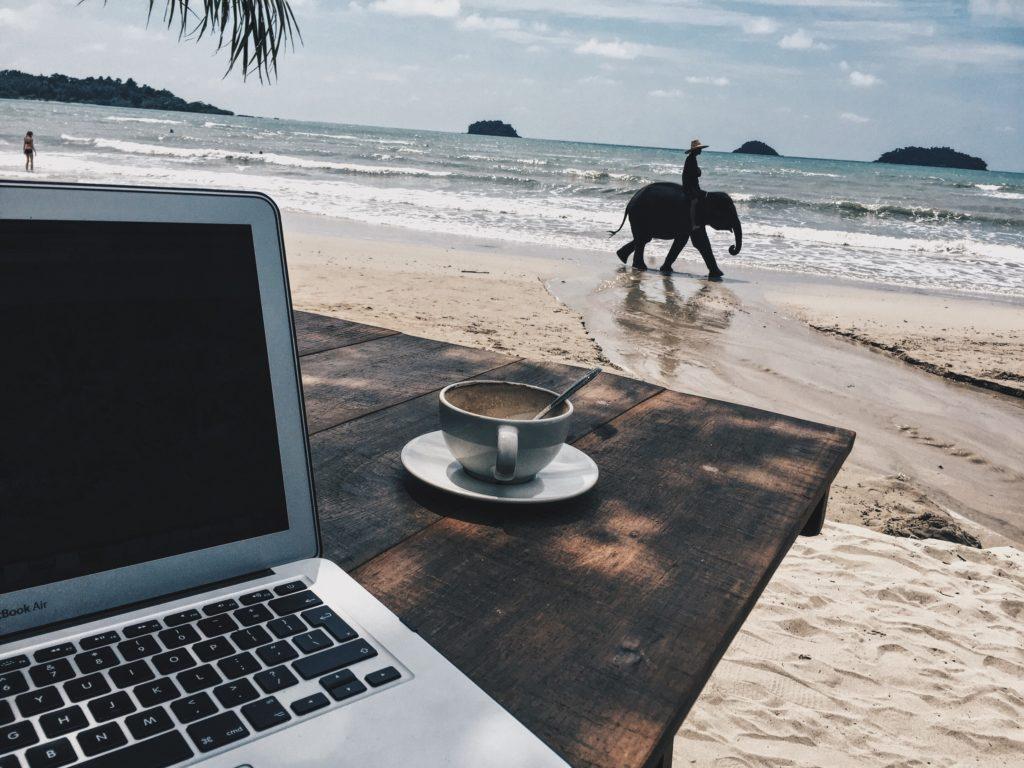 Digital Nomad Thailand beach Charada